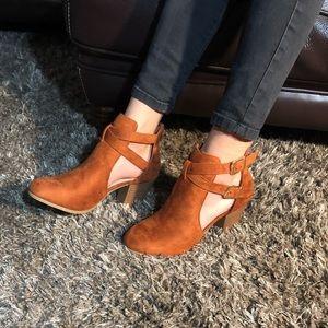 Shoes - Burnt Orange Booties